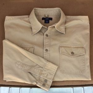 GAP Mens Khaki/Tan L/S Shirt 😊